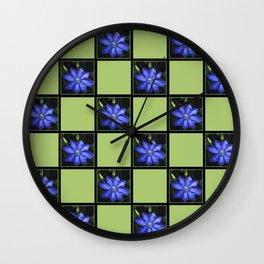 Clematis Patchwork Wall Clock