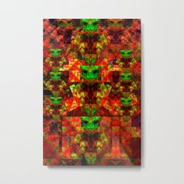 Abstract Cassiopeian Infant Pattern Metal Print