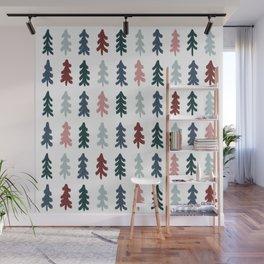 Christmas Tree Pattern Wall Mural