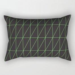 Neon geometric pattern 1 - Green Rectangular Pillow