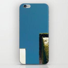 White Square, Green Square, Blue Sky iPhone Skin