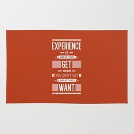 Lab No. 4 Experience is what you get when you didn't get what you wanted Quote Poster Rug