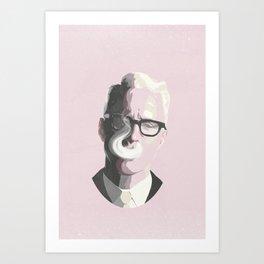 Roger Sterling   Mad Men Portrait Art Print