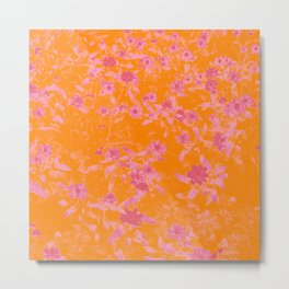 Floral trio tone photograph with orange and pinks Metal Print