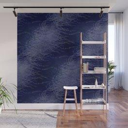 5 Wind-whipped Vines (blue II) Wall Mural