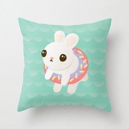 Doughnut Bun Throw Pillow