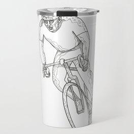 Road Bicycle Racing Doodle Travel Mug