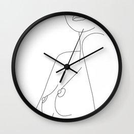 Nude Line Wall Clock