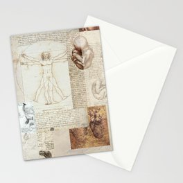 Dreams of da Vinci: Red Stationery Cards
