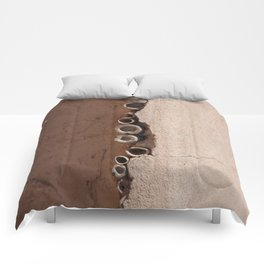 rotated rustic roof Comforters