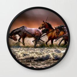 Runing Horses Wall Clock
