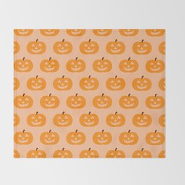 Cute Pumpkins Throw Blanket