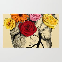 Flower Heart Rug