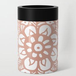 Rose Gold Mandala Can Cooler