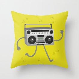 RADIO CASSETTE Throw Pillow