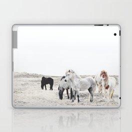 WILD AND FREE  1 - HORSES OF ICELAND Laptop & iPad Skin