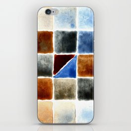Color Chart - Burnt Sienna (W&N) and Cerulean Blue (DS) iPhone Skin