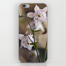 White columbine flowers iPhone Skin