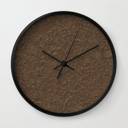 outdoor patterns brown Wall Clock