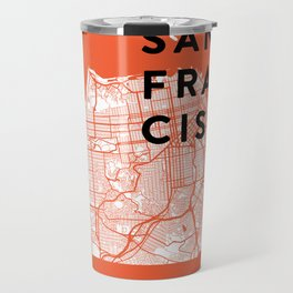 San Francisco Map 04 Travel Mug