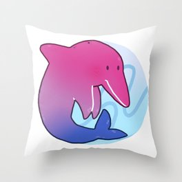 Bisexual Pride Dolphin Throw Pillow
