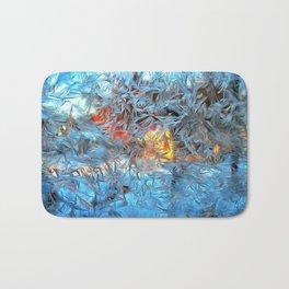 Frozen window Bath Mat
