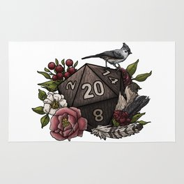 Druid Class D20 - Tabletop Gaming Dice Rug