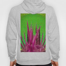 OPTICAL ART MAUVE PURPLE CACTUS Hoody