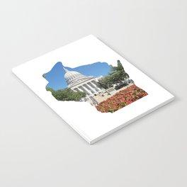 Beautiful Capitol Building in Wisconsin Notebook