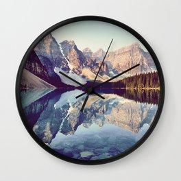 Moraine Lake Reflection Wall Clock
