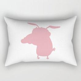 Courage Dog Rectangular Pillow