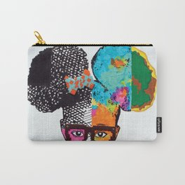 Girl with Afro Puffs Carry-All Pouch