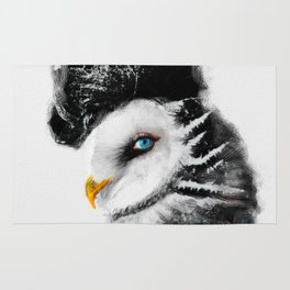 Tattooed Lady Owl Rug