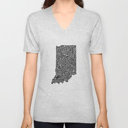 Typographic Indiana Unisex V-Neck