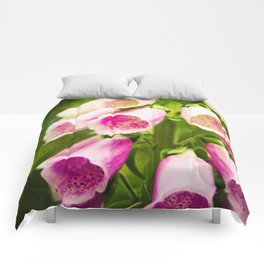 Painted Foxgloves Comforters