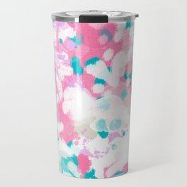 Rhea - abstract minimal painting pink and blue gender neutral nursery Travel Mug