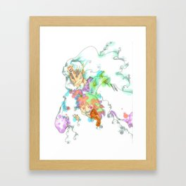 Fluffy Protector  Framed Art Print