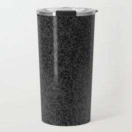 grayscale treemap mosaic - dark Travel Mug