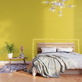 Butter Yellow - Solid Color Collection Wallpaper