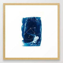 Libra Zodiac Print Framed Art Print