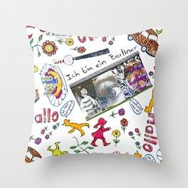 Ich bin Berliner Throw Pillow