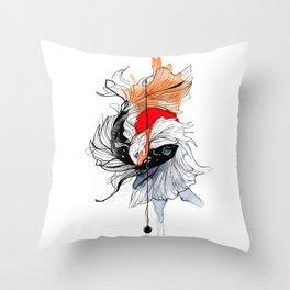 BETTA SPLENDENS INKTOBER Throw Pillow