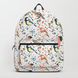 Watercour Painted British Birds Backpack