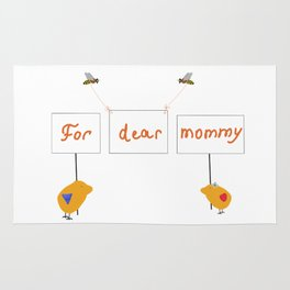 Cute image for mother`s day gift on transparent Rug