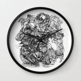 dreaming of escape Wall Clock