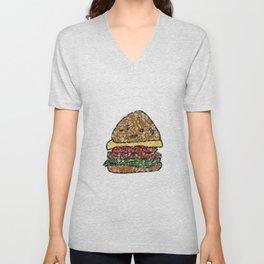 waxy burger Unisex V-Neck