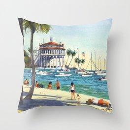 Avalon, Catalina Island Throw Pillow