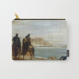 Promenade by the Sea by Edgar Degas Carry-All Pouch