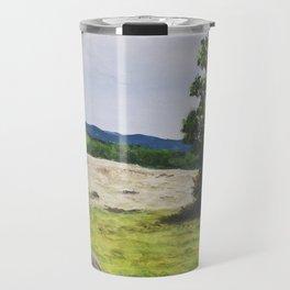 Tree in the Hayfield Travel Mug