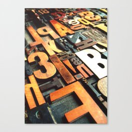 3B - Typography Photography™ Canvas Print